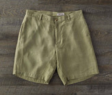 Madda Fella The Truman Washed Linen Shorts - Dorado Green