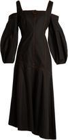 Ellery Mississippi asymmetric stretch-cotton maxi dress