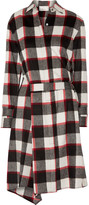 3.1 Phillip Lim Asymmetric checked wool and angora-blend dress