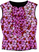 Marc Jacobs Sleeveless Sequin Splash Peplum Top