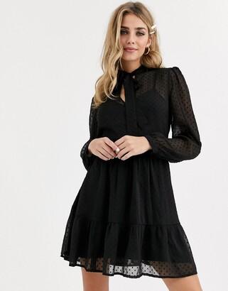 Miss Selfridge smock dress in black