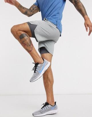 Nike Training Flex stride 2-in-1 shorts in grey