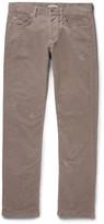 Bottega Veneta Slim-fit Stretch-cotton Corduroy Trousers - Anthracite