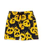 Vilebrequin Jim Panda Printed Swim Trunks, Turmeric, Boys' 2-8