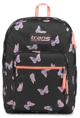 "JanSport Trans by 17"" Supermax Backpack - Butterfly Ballet/Black"