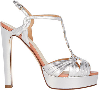Francesco Russo Braided T-Strap Platform Sandals
