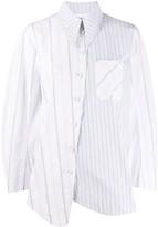 Ganni striped oversized shirt