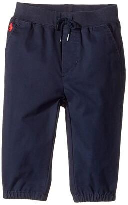 Polo Ralph Lauren Cotton Jogger Pants (Infant) (Aviator Navy) Boy's Casual Pants