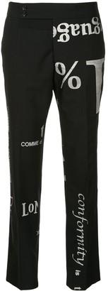 Comme Des Garçons Pre-Owned Glitter Logo Pants
