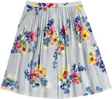 Cath Kidston Painted Posy Button Front Skirt