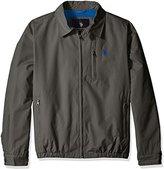 U.S. Polo Assn. Men's Micro Golf Jacket with Polar Fleece Lining