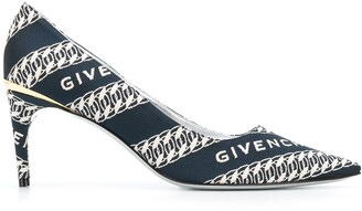 Givenchy M-Pump jacquard logo pumps