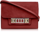 Proenza Schouler PS11 Red Plum Leather and Nubuck Wallet w/Shoulder Strap