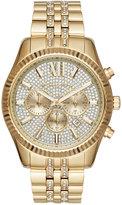Michael Kors Men's Chronograph Lexington Gold-Tone Stainless Steel Bracelet Watch 44mm MK8579