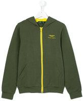 Aston Martin Kids - logo hoodie - kids - Cotton/Spandex/Elastane - 14 yrs