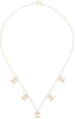 Chanel Pre Owned 2003 CC charms chain necklace