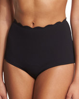 Marysia Swim Palm Springs High-Waist Scalloped Swim Bottom