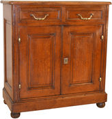 One Kings Lane Vintage 18th-C. French Faux-Bois Cupboard