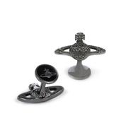 Vivienne Westwood Mini Bas Relief Cufflinks Black Diamond