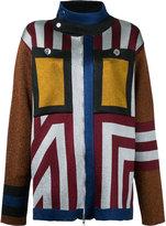 Marco De Vincenzo geometric pattern cardigan - women - Polyamide/Polyester/Acetate - 46
