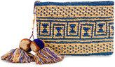 Yosuzi canvas woven pouch with pompom tassels - women - Straw - One Size