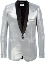 Saint Laurent Iconic Le Smoking jacket - men - Silk/Cotton/Lurex/Acetate - 50