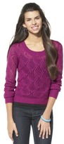 Mossimo Juniors Pointelle High Low Sweater - Assorted Colors
