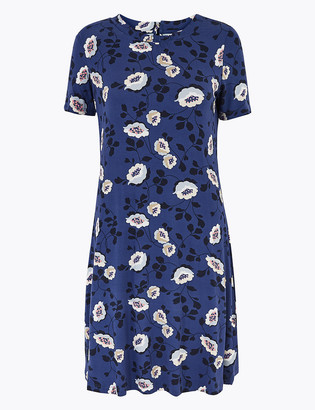 Marks and Spencer PETITE Jersey Floral Swing Dress