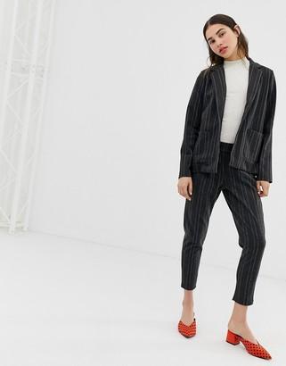 Ichi pinstripe trouser-Grey