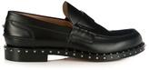 Valentino Soul Rockstud-embellished leather loafers