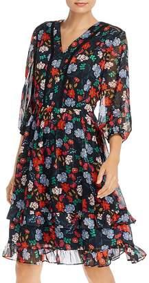 Nanette Lepore nanette Floral-Print Fit-and-Flare Dress
