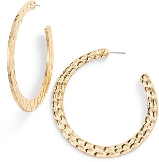 Ettika Hammered Hoop Earrings