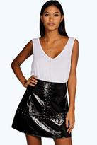 Leather Look A Line Skirt - ShopStyle UK