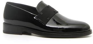 Valentino Garavani Men's Rockstud Patent Leather Tuxedo Loafers