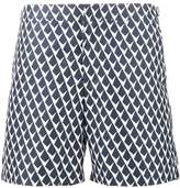 Orlebar Brown Navy Blue patterned Gilot swim shorts