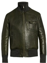 Bottega Veneta Funnel-neck leather jacket