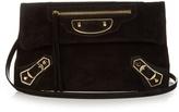 Balenciaga Classic Metallic Edge suede envelope clutch