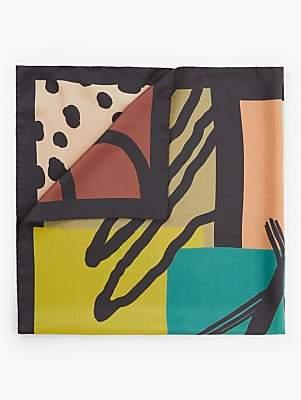 Fraas Italian Digital Print Square Silk Scarf, Multi