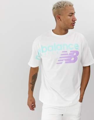 New Balance oversized t-shirt in white