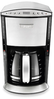 Krups Stainless Steel 12-Cup Programmable Glass Filter Coffee Maker