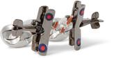 Deakin & Francis - Biplane Gunmetal-tone Sterling Silver Enamelled Cufflinks