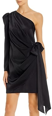 Aidan Mattox One-Shoulder Puff-Sleeve Dress - 100% Exclusive