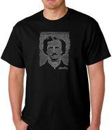 Men's Word Art Edgar Allen Poe's The Raven T-Shirt in Black
