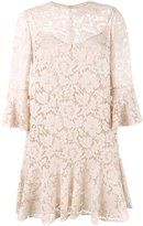 Valentino heavy lace mini dress - women - Silk/Spandex/Elastane - 38