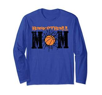 Basketball Mom funny distressed Mothers Day gift for women Long Sleeve T-Shirt