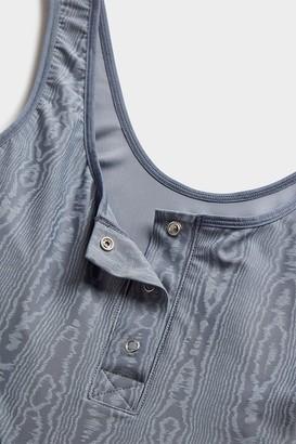 Negative Underwear Silky Bodysuit in Slate Moire