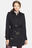 Vince Camuto Women's Single Breasted Soft Shell Trench Coat