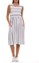 Marc O'Polo Marco Polo Sleeveless Spun Stripe Dress