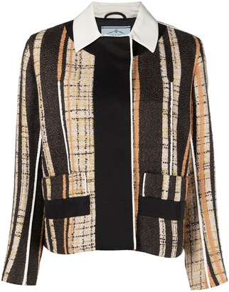 Prada Pre-Owned Striped Woven Blazer