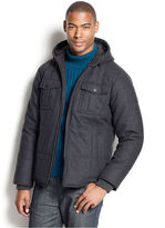Sean John Big and Tall Coat, Quilted Wool-Blend Coat